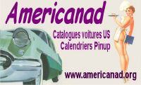 americanad calendrier ancien pin up